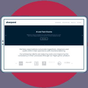 Silverpond website copywriting for tech company